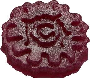 Rosa mit Perlglanz Metallic Puder