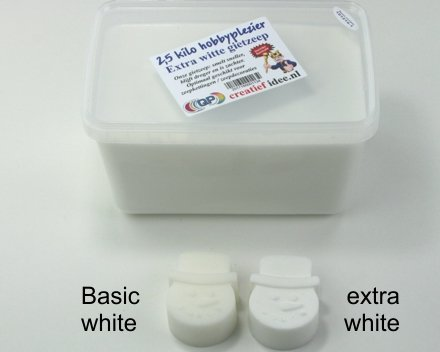 2,5 Kilogramm extra weiße Gießseife